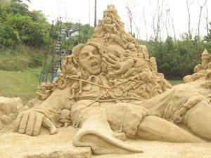 鳥取砂丘 砂像フェス1